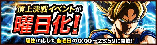 【ドッカンバトル】頂上決戦イベント一覧と開催日時