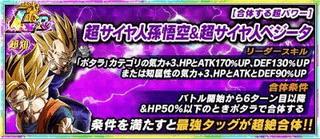 【合体する超パワー】超サイヤ人孫悟空&超サイヤ人ベジータ