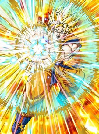 『目覚める超戦士』超サイヤ人孫悟空のカード絵(立ち絵)