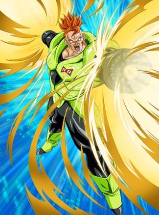『極大パワーの解放』人造人間16号のカード絵(立ち絵)