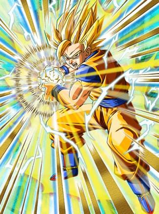 『際限なきパワー』超サイヤ人2孫悟空のカード絵(立ち絵)