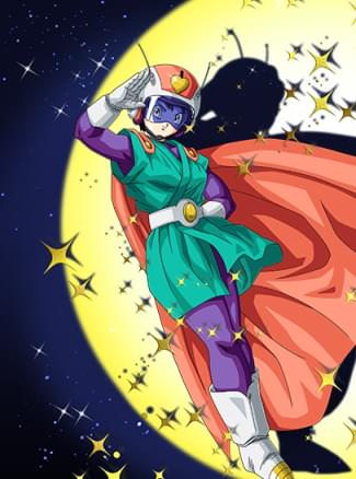 『平和の女神』グレートサイヤマン2号のカード絵(立ち絵)
