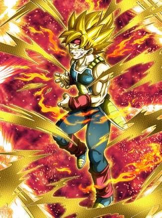 『燃える魂』超サイヤ人バーダックのカード絵(立ち絵)
