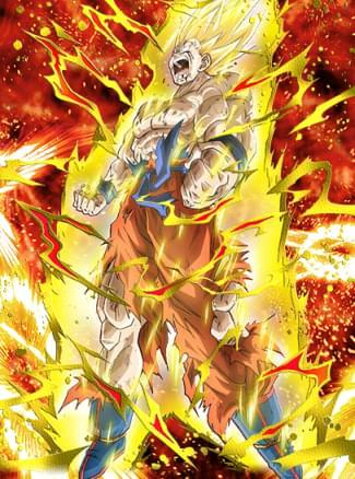 『怒りの頂点』超サイヤ人孫悟空のカード絵(立ち絵)
