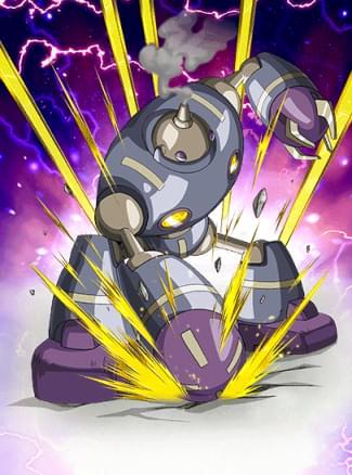 『メタルマンの猛攻』マゲッタのカード絵(立ち絵)