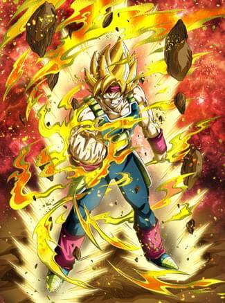 『燃え輝く命』超サイヤ人バーダックのカード絵(立ち絵)