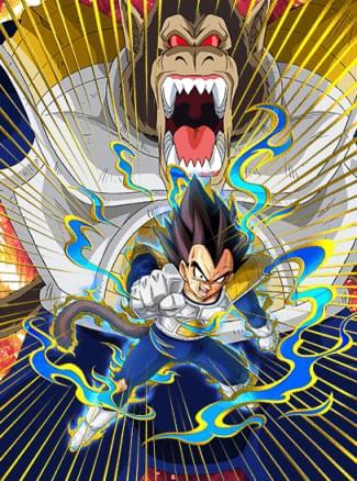『死闘を制する力』ベジータ(大猿)のカード絵(立ち絵)