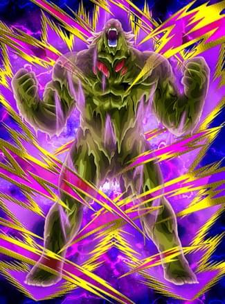 『復讐のモンスター』バイオブロリーのカード絵(立ち絵)
