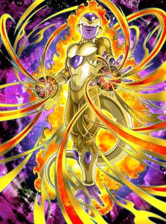 『黄金に燃える殺意』ゴールデンフリーザのカード絵(立ち絵)