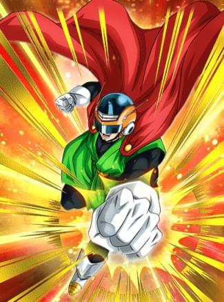 『正義の鉄拳』グレートサイヤマンのカード絵(立ち絵)