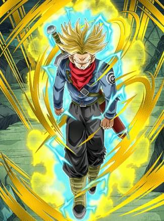 『怒りの超パワー』超サイヤ人トランクス(未来)のカード絵(立ち絵)
