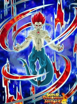 『溢れ出る魔力と野望』魔神ドミグラ(魔強化形態)のカード絵(立ち絵)