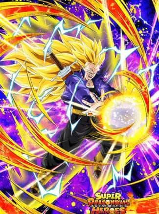 『新たに生み出された力』超サイヤ人3トランクス(青年期)のカード絵(立ち絵)