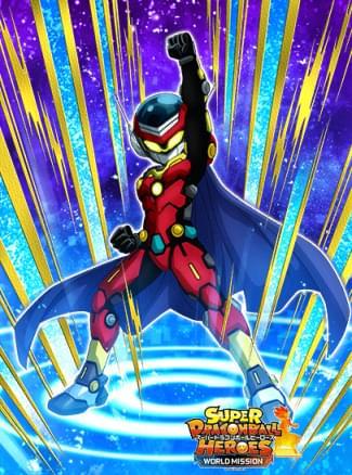 『世界を救うヒーロー』グレートサイヤマン4号のカード絵(立ち絵)