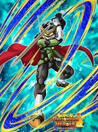 『ヒーローマスター』グレートサイヤマン3号のカード絵(立ち絵)