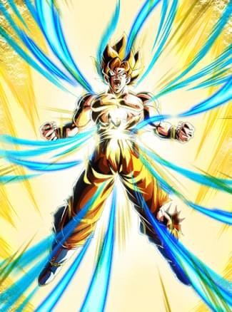 『奇跡を起こす超サイヤ人』超サイヤ人孫悟空のカード絵(立ち絵)