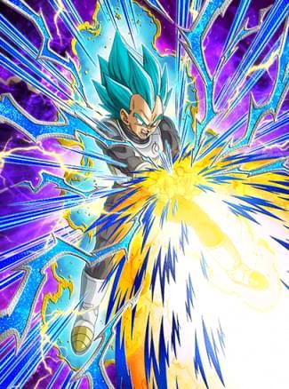 『決定的な強さ』超サイヤ人ゴッドSSベジータのカード絵(立ち絵)