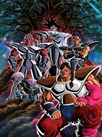 『宇宙一の壊し屋』ターレス軍団のカード絵(立ち絵)