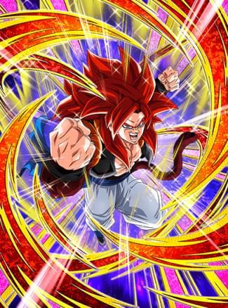 『強大無比の超パワー』超サイヤ人4ゴジータのカード絵(立ち絵)