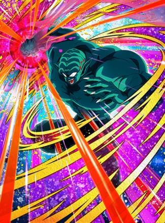 『破壊と復讐の鬼』スーパーガーリックJr.のカード絵(立ち絵)