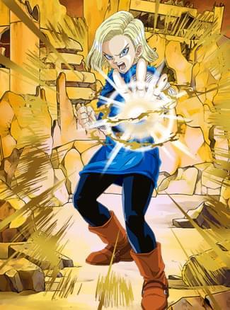 『破壊の暴走』人造人間18号(未来)のカード絵(立ち絵)