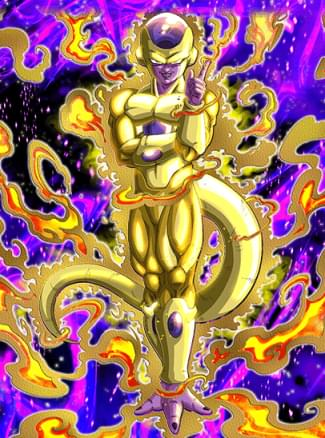『極限の悪』ゴールデンフリーザのカード絵(立ち絵)